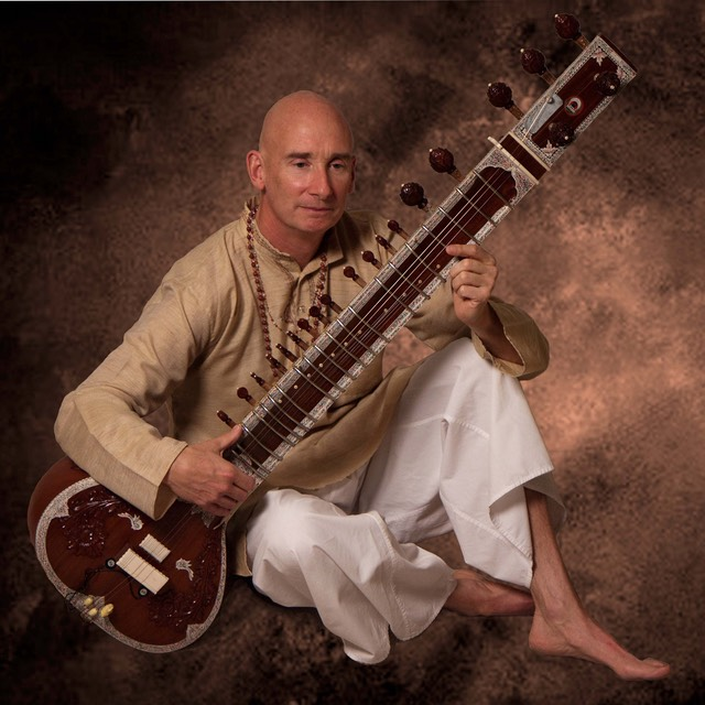 Chuck White Sitar Textured Background